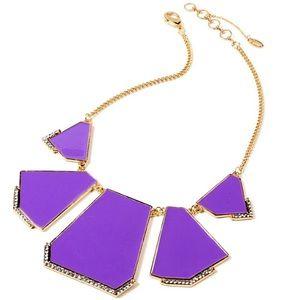 Amrita Singh Crystal & Purple Enamel Necklace